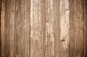 Oak Desk Prints - Rustic Light Wood Background Print by Brandon Bourdages