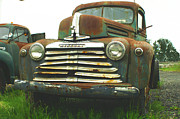 Rusted Cars Photo Acrylic Prints - Rustic Mercury Acrylic Print by Randy Harris