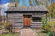Old Wood Cabin Posters - Rustic Pioneer Log Cabin - Salt Lake City Poster by Gary Whitton