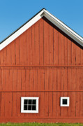 Farming Barns Posters - Rustic Red Barn Poster by John Greim