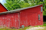 Rustic Barn Interior Art - Rustic Red by Paul Ward
