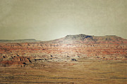 Red Rock Framed Prints Prints - Rustic Red Rock Print by Andrea Hazel Ihlefeld
