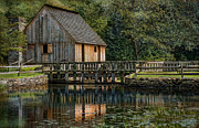 Rustic Mill Prints - Rustic Reflection Print by Robin-lee Vieira
