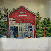 Shed Digital Art Metal Prints - Rustic Shed Metal Print by Mary Timman