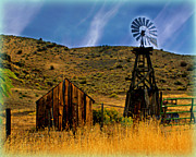 Marty Koch Posters - Rustic Windmill Poster by Marty Koch