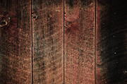 Backboard Prints - Rustic Wood Background Red and Black Print by Brandon Bourdages