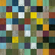 Mosaic Mixed Media Posters - Rustic Wooden Abstract Poster by Michelle Calkins