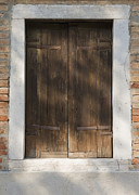 Old World Charm Prints - Rustic Wooden Door Print by Andersen Ross