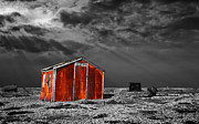 Red Shack Framed Prints - Rusting Away Framed Print by Meirion Matthias