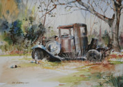Vehicles Painting Framed Prints - Rusting Relic  Framed Print by P Anthony Visco