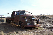 Ventage Framed Prints - Rusty abandoned Chevy truck Framed Print by Richard Adams