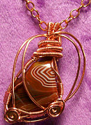 Lake Jewelry - Rusty Bands Pendant by Heather Jordan