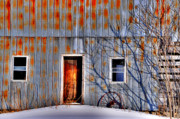 Old Barns Prints - Rusty Barn Print by Emily Stauring