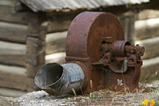 Galvanize Metal Prints - Rusty Blower Metal Print by JoJo Photography