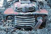 Jame Hayes Photo Prints - Rusty Blue Ford Print by Jame Hayes