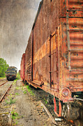 Journeyman Prints - Rusty Freight Cars Print by Paul Ward