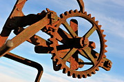 Gear Posters - Rusty gears mechanism Poster by Sami Sarkis