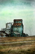 Thunderstorm Framed Prints - Rusty Grain Elevator Framed Print by Jill Battaglia