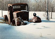 Rusty In Alberta Print by Robert Hinves