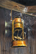 Hallmark Drawings Metal Prints - Rusty Lantern Metal Print by Bob Hallmark