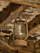 Oil Lamp Prints - Rusty lantern Print by Steev Stamford