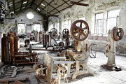 Grime Metal Prints - Rusty Machinery Metal Print by Carlos Caetano