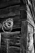 Barn Digital Art Metal Prints - Rusty Nails Hold Up Time Metal Print by Greg Sharpe