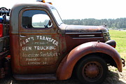 American Car Art - Rusty Old 1935 International Truck . 7D15496 by Wingsdomain Art and Photography
