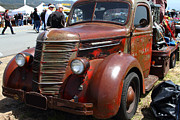 American Car Art - Rusty Old 1935 International Truck . 7D15497 by Wingsdomain Art and Photography