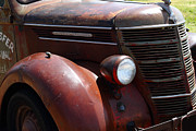 Rusted Cars Photo Acrylic Prints - Rusty Old 1935 International Truck . 7D15499 Acrylic Print by Wingsdomain Art and Photography