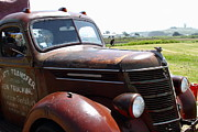 Rusted Cars Photo Acrylic Prints - Rusty Old 1935 International Truck . 7D15509 Acrylic Print by Wingsdomain Art and Photography