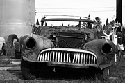 Rusty Old American Car . 7d10343 . Black And White Print by Wingsdomain Art and Photography