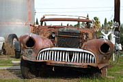 Junk Photos - Rusty Old American Car . 7D10343 by Wingsdomain Art and Photography