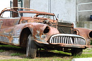 Junk Photos - Rusty Old American Car . 7D10347 by Wingsdomain Art and Photography