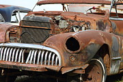 Junk Photos - Rusty Old American Car . 7D10349 by Wingsdomain Art and Photography