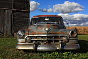 Lyle Hatch Acrylic Prints - Rusty Old Cadillac Acrylic Print by Lyle Hatch
