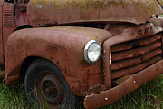 Old Trucks Photos - Rusty Old GMC Truck . 7D8402 by Wingsdomain Art and Photography