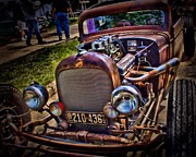 Paint Photograph Prints - Rusty Rat Rod Print by Perry Webster