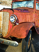 Rusty Pickup Truck Photos - Rusty Red Chevrolet Pickup Truck 1934 by Douglas Barnett