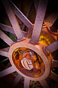 Hub Framed Prints - Rusty Spokes Framed Print by Inge Johnsson