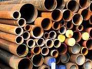 Heavy Metal  Photos - Rusty Steel Pipes by Yali Shi