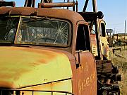 Junkyard Framed Prints - Rusty Tow Framed Print by Slade Roberts
