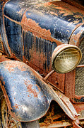 Antique Automobile Framed Prints - Rusty Vintage Automobile Framed Print by Olivier Le Queinec