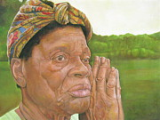 Elderly People Paintings - Ruth II by Curtis James