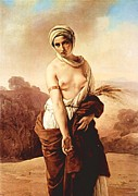 Hayez Paintings - Ruth by Pg Reproductions