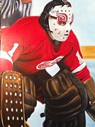 Hockey Painting Originals - Rutherford 1978 by John Dykes