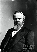 Post-civil War Framed Prints - Rutherford B. Hayes, 19th American Framed Print by Photo Researchers