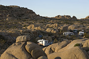 Scrub Brush Prints - RV Camping In The High Desert Print by Roberto Westbrook