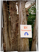 Directional Signage. Posters - RV Turnaround Poster by Cindy Wright