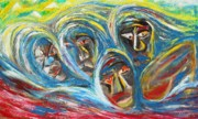 Refugee Artist Paintings - Rwandan Escape by Arnold Grace